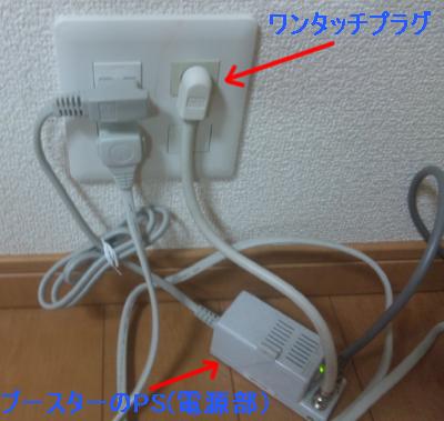テレビ端子とユニット部分