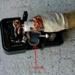 300Ω用ワンタッチプラグのコイルを取り除く方法